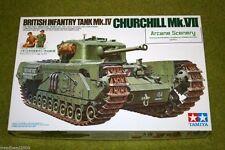 Tamiya BRITISH CHURCHILL Mk VII Infantry Tank 1/35 Scale Kit 35210