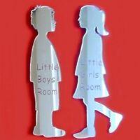 Little Boy and Little Girl Toilet Door Sign Set