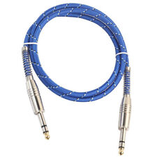 6.35mm 1/4'' TRS Balanced Cable M to M Stereo Audio Lead for Mic Mixer 1m