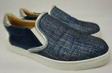 Christian Louboutin Masteralta Flat Denim Blue Low Slip On Sneakers Size 39.5