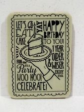 Stampin Up WOO HOO stamp single clear mount Happy Birthday Eat Cake Celebrate