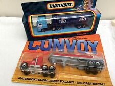 MATCHBOX Convoy P & O Container Truck and GETTY Tanker   BOXED