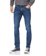 Mens Lee Luke slim skinny tapered fit jeans 'Blue aged' FACTORY SECONDS L148