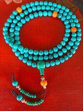 Tibetan Mala Turquoise Healing Mala for meditation