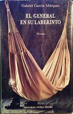 Gabriel García Márquez EL GENERAL EN SU LABERINTO Spanish HCDJ 1st Ed Bogotá