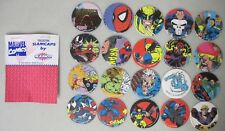 1993 MARVEL COMICS COLLECTOR SLAMCAPS BY SLAMCO 20 POGS SPIDER-MAN X-MEN