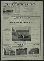 The Manor House Sutton Place Surrey Estate Agent Details 1958 1 Page Advert