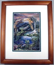 Mer Angel by Josephine Wall Fantasy Abstract Double Matted & Framed
