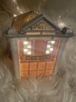 Pleasantville 1893 The Storybook Village Firehouse Christmas Snow Village RARE!