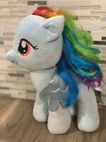 "My Little Pony Build a Bear Rainbow Dash Pegasus Blue 16"" Plush Stuffed Toy doll"