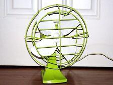 Vtg Oscillating Electric Fan Montgomery Ward Green Refurbished