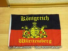 Fahnen Flagge Königreich Württemberg Stockfahne mit Hohlsaumm - 30 x 45 cm