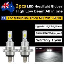 For Mitsubishi Triton MQ 2015-2018 Headlight Globes High Low Beam White LED Bulb