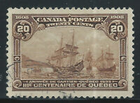 Canada #103(1) 1908 20 cent brown CARTIER'S ARRIVAL Used CV$300.00
