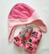 Children's Place Baby Toddler Girl Hat Gloves Pink 2T-3T