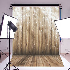 5X7 Xmas light Wood Wall Vinyl Photography Backdrop Photo Background Studio Prop