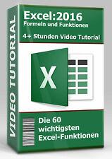 Excel 2016: Formeln und Funktionen - Video Tutorial Deutsch - 4+ Stunden