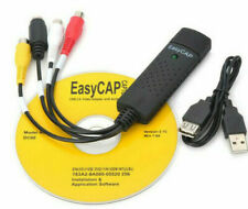 CAPTURADORA DE VIDEO Y AUDIO USB EASYCAP CONVERSOR RCA VCR TV DVD - ENVIO 48H
