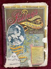 Paling's Christmas Annual, Sheet Music, No 13, Late 1800's. Has Issues.