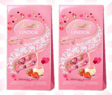 x2 Lindt Lindor Strawberries Cream White Chocolate Truffles LIMITED EDITION 5 OZ