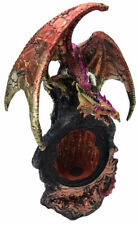 Dragon Sitting On A Cave With Magnet Inside Cave Figurine 900g H26cm x W20cm