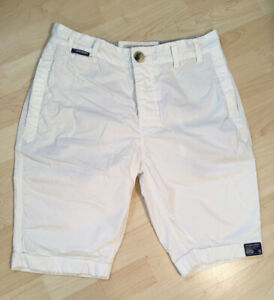 Superdry Herren Kurze Hose Weiß Chino Gr S Shorts Sommer Pant 28 29 30 31 hell