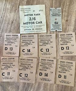 Vintage Wrestling Tickets Sports Stadium Brighton plus extras