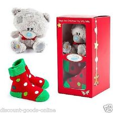 ME TO YOU TINY TATTY TEDDY BABY`S 1ST FIRST CHRISTMAS BEAR AND SOCK SET