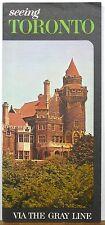 1964 Toronto Canada Gray Line tours vintage travel brochure Casa Loma cover b