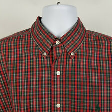 Ralph Lauren Blue Red Green Plaid Check Mens Dress Button Shirt Size XL