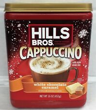 Hills Bros White Chocolate Caramel Cappuccino Mix 16 oz Hills Brothers