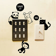 Removable Animal Light Switch Art Vinyl Wall Stickers Decal Mural Home Decor New