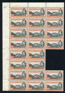 Ascension SG41 2d Black and red-orange Perf 13 U/M (1 stamp tone spot) Block of