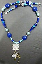 "Very Nice Beaded Charm Necklace - 17"" long"