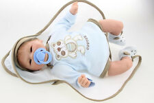 Realistic Handmade Baby Boy Doll Silicone Vinyl Reborn Newborn Dolls Cute Gifts