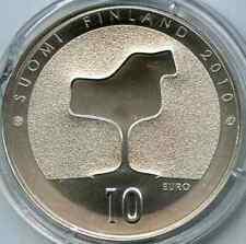 Finlande Finland 10 euro 2010 argent Eero Saarinen architecture BU PROOF