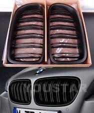 FAST EMS Pair TWIN SLAT MATTE BLACK M5 KIDNEY GRILLS for BMW 5 Series F10 F11
