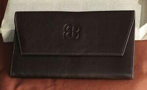 Portefeuille porte monnaie BALENCIAGA cuir brun foncé vintage