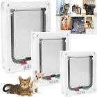Pet Cat Dog Safe 4 Ways Locking Flap Screen Home Door Lockable Small Frame S/M/L