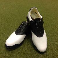 NEW Adidas Adipure Classic Saddle Leather Golf Shoes - UK Size 8.5 - US 9 - E...