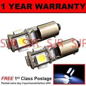 BA9s T4W 233 Canbus sans Erreur Blanc 5 Ampoules LED Clignotants X2 Hid SL101402