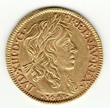 1641 A Superb French Colonial Gold Louis d'or , Louis XIII
