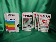 Fuji & Polaroid BLANK VHS tapes Lot Of 8 T-120 HQ NEW & Sealed ^