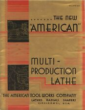 1937 American Multi Production Lathe Radial Shapers Brochure 444