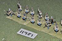 25mm roman era / roman - late javelinmen 16 figs - inf (11981)