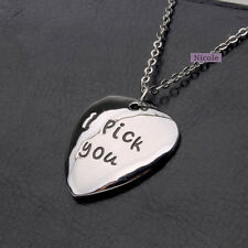 Fashion 18K White Gold Plated I Pick You Pendant Necklace NF72