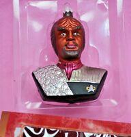 Star Trek 2000 Blown Glass Lt. Commander WORF Ornament Keepsake Hallmark DS9