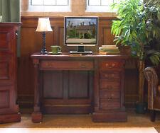La Roque Premium Solid Mahogany Dark Wood Single Pedestal Home Office Desk