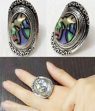 Fashion Women Charm Carved Tibetan Silver Finger Ring Cowboy Hat Rings Jewellery
