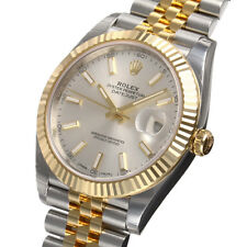 Rolex Datejust 41mm 126333 Two Tone Steel & Gold Jubilee Silver Index Dial Watch